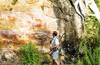 Rock art near Singita Pamushana