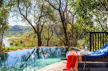 Swimming pool at Singita Pamushana