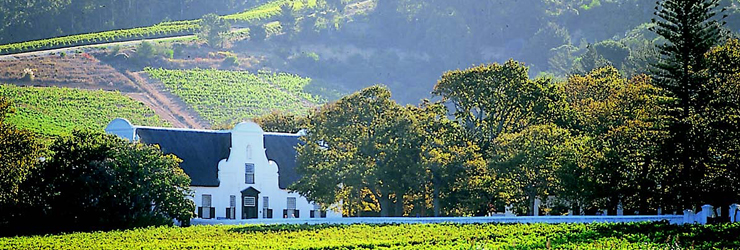 Cape Winelands, home to South Africa's fine wines