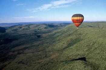 View from hot air balloon, Pialnesberg