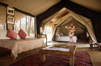 Tent Interior, Alex Walkers Luxury Mobile Safari, Tanzania