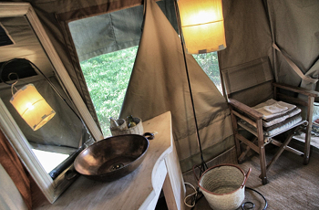 Bathroom in one of the tents