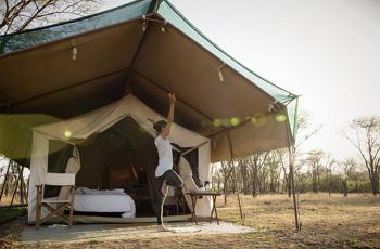 Tent exterior, Alex Walker Luxury Mobile Safari, Tanzania