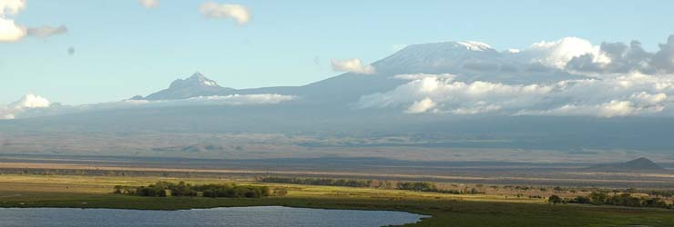 Amboseli National Park with possibly the best known view in East Africa