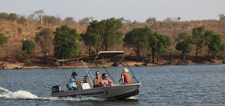Game viewing by boat is just one option