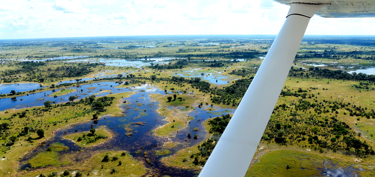 Safari Camps in the Okavango are remote and accessed by light aircraft