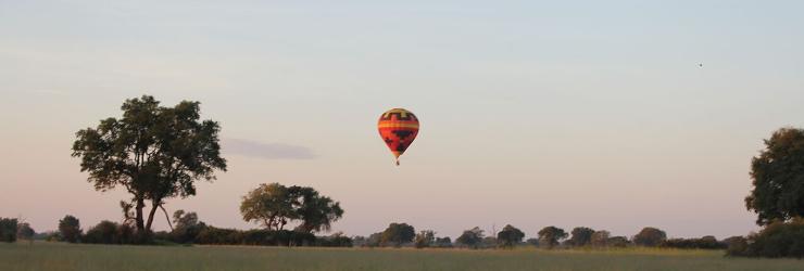 Hot Air Balloon flight over the Okavango Delta, Botswana
