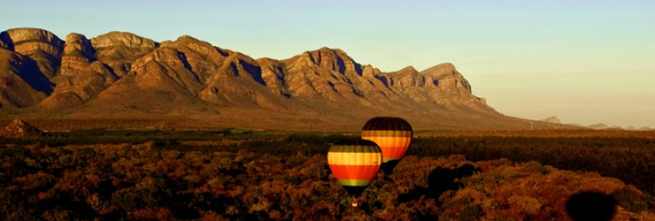 Early morning hot air balloon flight