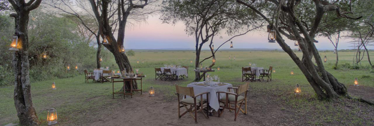 Dining under the trees, Bateleur Camp, Kenya