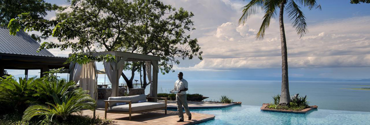 Bumi Hills Safari Lodge overlooks the vast Lake Kariba
