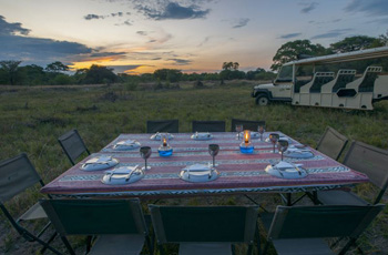 Dining out on the Bushways mobile safari