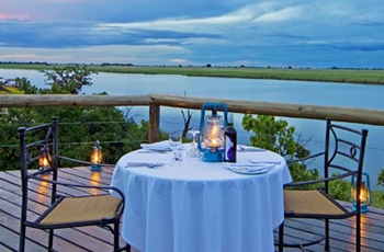View from the deck at Chobe Game Lodge