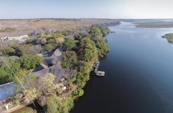 Aerial view, Chobe Safari Lodge, Botswana