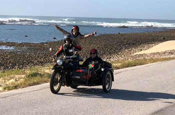 Full day tour on a side car