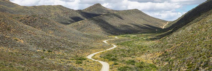 A lonely road in the Cedarberg, Namaqualand