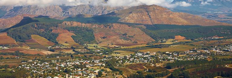 The Franschoek Valley, Cape Winelands, South Africa