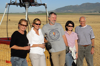 Passengers after Winelands Hot Air Balloon Flight