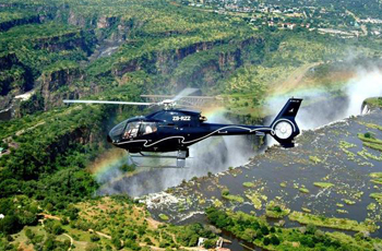 Hleicopter Flight above the Victoria Falls, Zimbabwe