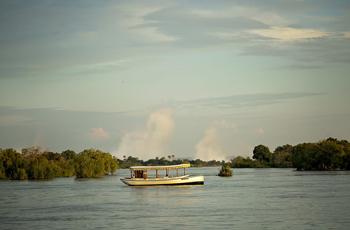 Sunset Cruise on the Zambezi just above the Victoria Falls