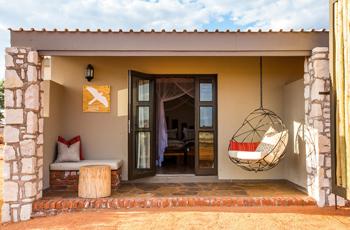 The accommodation at Kalahari Anib Lodge