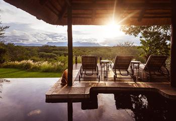 View from the pool at Khaya Ndlovu