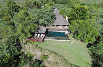 Aerial view of Khaya Ndlovu, near Kruger Park