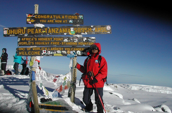 On the Summit of Kilimanjaro