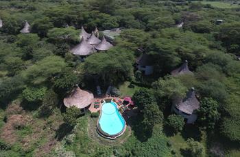 Aerial View, Lake Manyara Serena