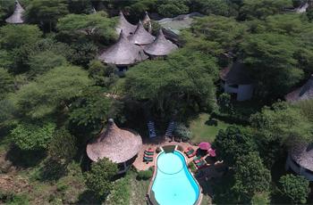 Lake Manyara Serena fromthe air, Tanzania