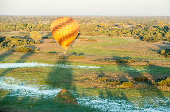 Hot Air Balloon in the early morning, Okavango Delta, Botswana