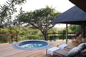 A suite at Londolozi Pioneer Camp, Sabie Sands Game Reserve