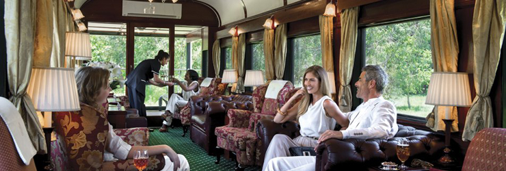 Rovos Rail are one of a few luxury train options in Southern Africa