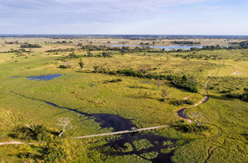 The Okavango Delta is a wildlife rich water wilderness