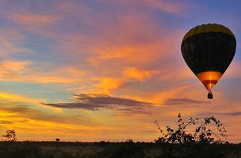 Hot Air Ballooning over the Okavango Delta, near Mapula Lodge