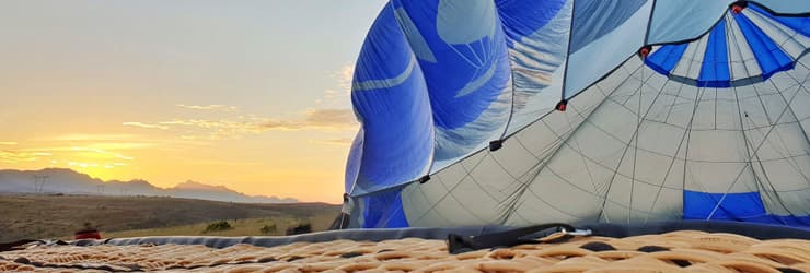 Early morning launch, Hot Air Ballooning - Garden Route