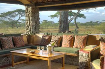 View from lounge area, Ndutu Safari Lodge