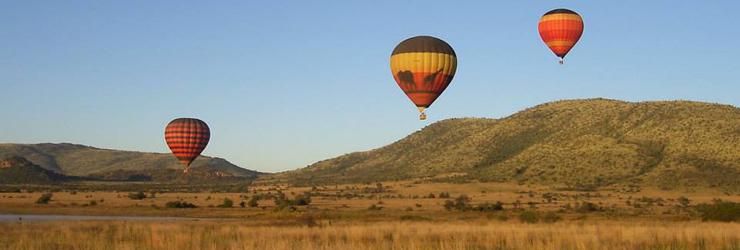 Hot Air Ballooning in Pialnesberg Game Reserve