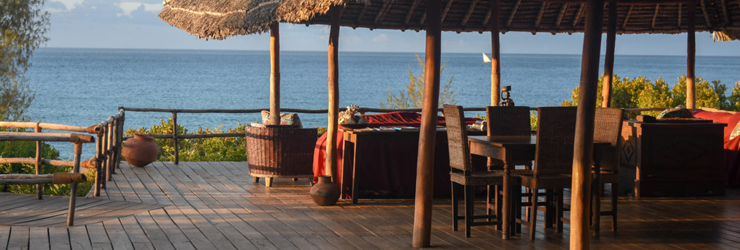 View from the main area at Nuarro Lodge, Mozambique