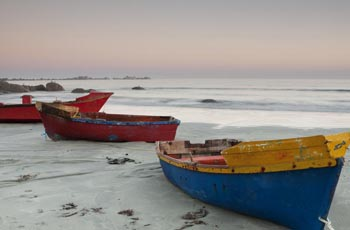 Boats on the Paternoster Beach
