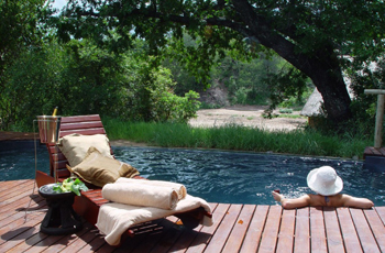 Swimming Pool at Rhino Post Safari Lodge, Kruger National Park, South Africa