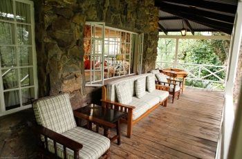 Verandah at Reillys Rock Lodge, Swaziland