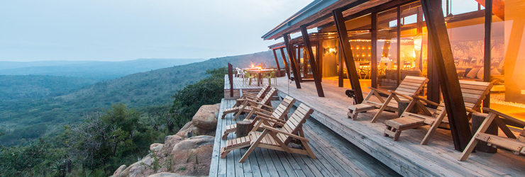Rhino Ridge Safari Lodge in the Hluhluwe Imfolozi Game Reserve