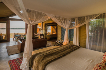 Room Interior at Royal Zambezi Lodge