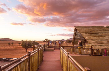 Sundowner deck at Sossusvlei Lodge