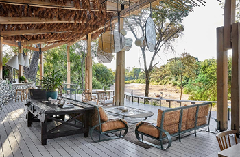 Saseka Tented Camp, View from the deck