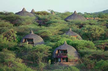 Accommodation units at Serengeti Serena, Tanzania