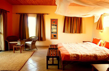 Room interior, Toko Lodge, Western Etosha, Namibia