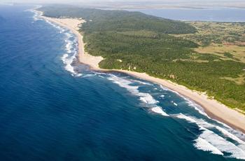 Aerial view Thonga Beach Lodge
