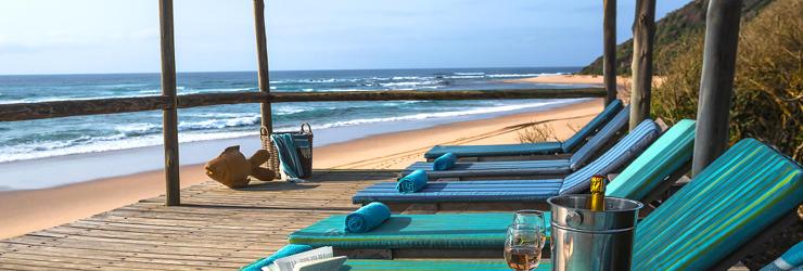 The luxury Thonga Beach Lodge
