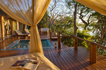 Tongabezi Lodge swimming pool